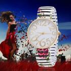 fashion women watches For Geneva stretch band flower dial floral printed hot UP