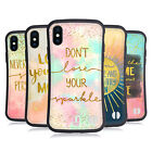 HEAD CASE DESIGNS GOLD QUOTES HYBRID CASE FOR APPLE iPHONES PHONES