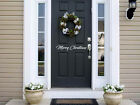 Welcome Door Merry Christmas Vinyl Decal Sticker Outside Custom Yard Decoration
