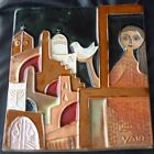 YAIR Pottery Isarel Plaque Bless Jeruselum With Peace