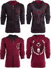 AFFLICTION Mens HOODIE Sweat Shirt ZIP UP Jacket REVERSIBLE Live Fast Prime $98