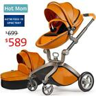 Baby Stroller 2018, Hot Mom Carriage with Bassinet Combo,Brown,Baby Bid Gift