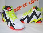 New Reebok Pump Kamikaze II 2 White Black Red Neon Yellow Rare Retro Twilight