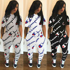 Women Tracksuits Sets Scholarship precisely Print Stitching Two-Piece Sportswear Jumpsuits Top