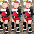 Newborn Kid Baby Boy Girl Christmas Cute Romper Tutu Lace Dress Outfit Clothes
