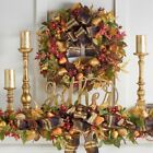 Miss Thanksgiving Decorations Coordinating Wreath Mantel Swag Candle Ring Set