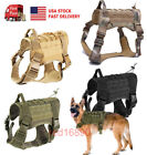 US Adjust Military Training K9 Dog Harness Tactical Molle Vest with Handle M/L