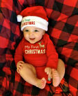 MY First Christmas Baby Boy Girl Romper Bodysuit Jumpsuit Cl