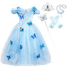 Girls Storyteller Cinderella Fancy Dress Princess Book Day Kids Costume