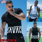 Men's Gym Sport Sleeveless Vest Tank Tops Casual Muscle Body