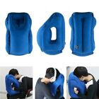 Blue Inflatable Travel Pilow Air Soft Comfy Cushion Foldable Neck Back Support
