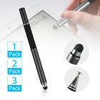 2 in 1 Luxury Fine Point Stylus Pen for Tablet iPad Phone Samsung Galaxy Kindle
