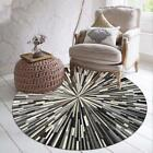 Geometric Illusion Style Floor Round Carpet Abstract Pattern Anti Slip Accessory