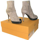 TODs Tod's Made in Italy women's peep toe suede ankle boots sand color $540 37