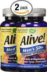 Pack of 2, 75 count Natures Way Alive! Mens 50 Plus Gummy Multi-Vitamins