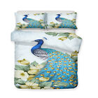 3D Beautiful Painting Peacock Bedding Peafowl Duvet Cover Pillowcase Quilt Cover