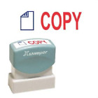 "XstamperR Two-Color Title Ink Stamp, Pre-Inked, ""COPY"", Blue/Red"