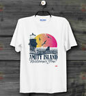 Amity Island Welcomes You Jaws Vintage Quints Retro Movie Unisex T Shirt B117