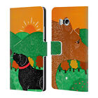 OFFICIAL STEPHEN HUNECK DOG'S FRIENDS LEATHER BOOK WALLET CASE FOR HTC PHONES 1