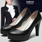 Fashion High Heels Women's Platform For Formal Working Shoes Pointed Pumps