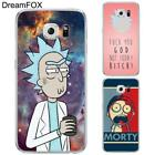 DREAMFOX L349 Rick And Morty Soft TPU Silicone Case Cover For Samsung Galaxy Not
