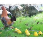 Outdoor Resin Animals Statue Chicken Family Ornament Figurine Yard Decor