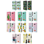 OFFICIAL emoji® CACTUS AND PINEAPPLE LEATHER BOOK CASE FOR SAMSUNG PHONES 2