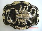 Black Color Scorpion Western Cowboy Belt Buckle Giant New