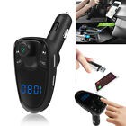 New Wireless FM Transmitter LED MP3 Players Modulator Handsfree Dual USB Charger