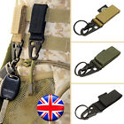 UK Carabiners Hook Webbing Buckle Nylon Molle Belt Bag Hanging Outdoor Sports