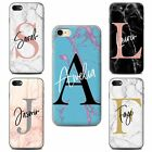 PERSONALIZED CUSTOM MARBLE INITIAL NAME PHONE CASE COVER FOR APPLE IPHONE COVER