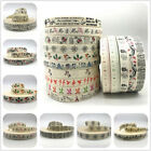 5yds 25mm Cotton Ribbon Handmade For Wedding Christmas Decoration Sewing Fabric