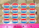 """Made in USA Oval Retail Wholesale Store Product Sticker Decals 3/4"""" - lot of 100"""
