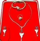 ndian Women Pendent Necklace Set Gold Plated Combo Fashion Jewelry Diwali Z 26