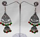 ndian Women Silver Oxidized Earrings Jewelry Gypsy Biho Tribal  Diwali Gift A32