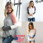 Women's Loose Tops Long Sleeve Pullover Casual Blouse Shirt XMAS T-shirt S-XL