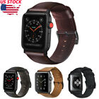 38/42 Retro Genuine Leather iWatch Band Men Casual Strap For Apple Watch 4 3 2 1 image