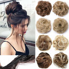 LARGE THICK Curly Chignon Messy Curly Bun Updo Clip in Hair Piece Extensions FO3