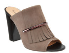 G.I.L.I Kilted Leather Mules - Pressley Stonewall Women's 10 New