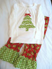 Newborn Baby Girl Christmas Tree Tops T-shirt Bell-bottomed Pants Outfit Clothes