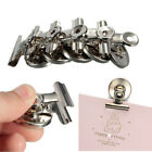 Metal  Note Holder  Message Clamp  Fridge Wall Memo  Magnetic Clips