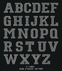 "Внешний вид - 2"" Block LETTERS number iron-on HOTFIX MOTIF RHINESTONE patch colledge font DIY"