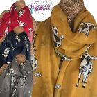 COW SCARF LADIES SCARF WITH SKETCH COWS FARM ANIMALS SUPERB SOFT QUALITY