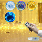 3m 300 led window curtain icicle string fairy lights wedding party decor remote