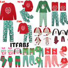 ITFABS Family Matching Christmas Pajamas Set Men Women Kids Sleepwear Nightwear
