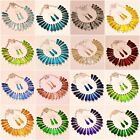 """Multi Cut Stone Faceted Handmade Gemstone Fashion Ethnic Jewelry Necklace 18"""" Rd"""