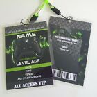 Personalised Xbox PS2 PS3 Gamers VIP Pass Lanyard for Birthday Party Invite