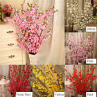 65cm Artificial Cherry Plum Peach Blossom Branch Fake Silk Flower Tree Decor Uk