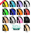 SUNLU TPU/Flexible 3D Printer Filament 1.75mm 1KG/2.2lb Spool Black Elastic TPU
