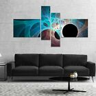 Designart 'Fractal Angel Wings in Blue' Abstract Wall Art Canvas